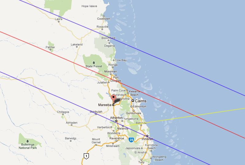 Google Maps capture Cairns Total Solar Eclipse 14 Nov 2012 Hot air ballooning cairns wide.JPG